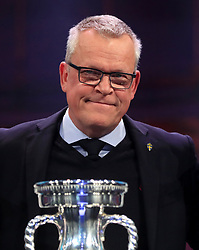 File photo dated 30-11-2019 of Sweden manager Janne Andersson during the Euro 2020 Draw at the Romexpo Exhibition Centre, Bucharest. Issue date: Tuesday June 1, 2021.