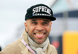 DJ Goldie during the 2017 British Grand Prix at Silverstone Circuit, Towcester.