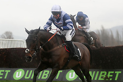 Frodon ridden by Bryony Frost wins the Caspian Caviar Gold Cup Handicap Chase during day two of the International Meeting at Cheltenham Racecourse.