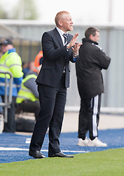 Falkirk's manager Gary Holt.<br /> Falkirk 3 v 1 Alloa Athletic, Scottish Championship game played today at The Falkirk Stadium.<br /> © Michael Schofield.