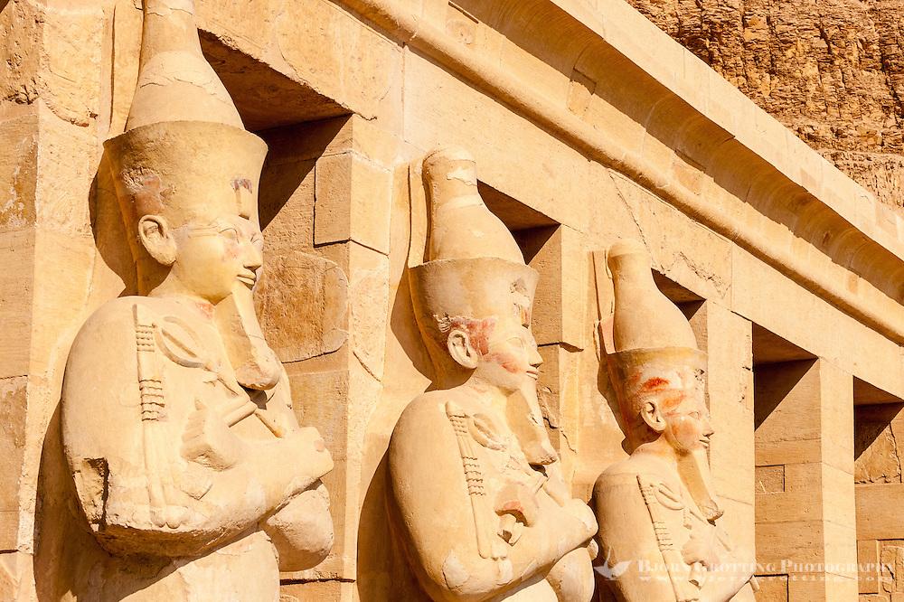 Luxor, Egypt. The Mortuary Temple of Hatshepsut is dedicated to the sun god Amon-Ra.