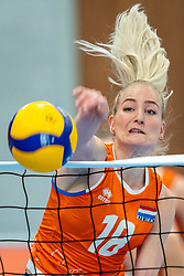 Marrit Jasper of Netherlands in action during the Women's friendly match between Netherlands and Belgium at Sporthal De Basis on may 19, 2021 in Sliedrecht, Netherlands (Photo by RHF Agency/Ronald Hoogendoorn)