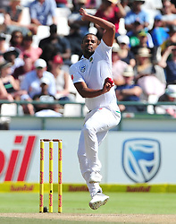 Cape Town-180325  Vernon Philander bowling against Australia on day 4 of the Sunfoil Cricket Test series at Newlands Cape Town.They are chasing a target of 383 to win now.photograph:Phando Jikelo/African News Agency/ANA