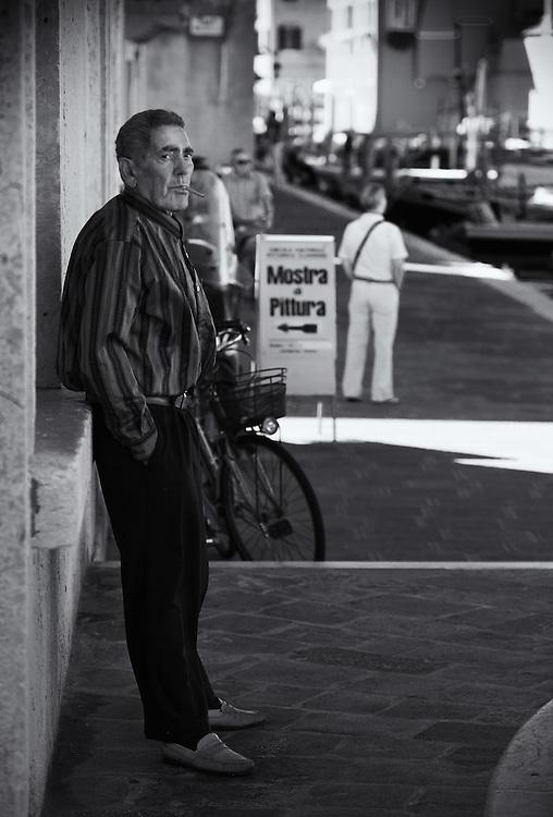 Italy - Chioggia - Old man smoking