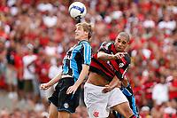 20091206: RIO DE JANEIRO, BRAZIL - Flamengo vs Gremio: Brazilian League 2009 - Flamengo won 2-1 and celebrated the 6th Brazilian Championship of its history. In picture: Adriano (Flamengo, R). PHOTO: CITYFILES