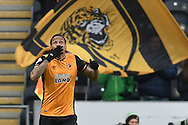 Hull City striker Abel Hernandez (9) celebrates scoring  to go 1-0 up  during the Sky Bet Championship match between Hull City and Charlton Athletic at the KC Stadium, Kingston upon Hull, England on 16 January 2016. Photo by Ian Lyall.