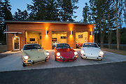 Porsche-photographer-randy-wells-videographer-filmmaker-cinematographer-storyteller-writer--location-and-studio-specialist, Image of Porsche 911s at the Road Scholars West facility on San Juan Island, Washington, Pacific Northwest