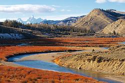 Gros Ventre River, Grand Tetons, Bridger Teton National Forest, Jackson Hole, Wyoming
