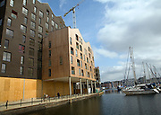 Redevelopment of the Wet Dock, Ipswich, Suffolk, England. The wet dock was constructed in 1842 which was 'the biggest enclosed dock in the kingdom' at the time. A major regeneration of the area has taken place since 1999.