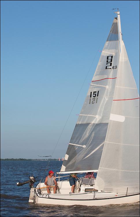 Set and ready to sail through Cheney Lake during a friendly Regatta.