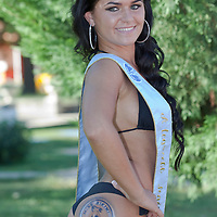 Eliza Levai winner of the prize for the most beautiful butt during the Miss Bikini beauty contest held in Budapest, Hungary. Sunday, 29. August 2010. ATTILA VOLGYI