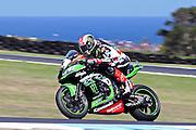 World Superbike Championship. Round 1. Phillip Island. Australia. Saturday 25.2. 2017 WSBK Motorcycle race, Motorrad-Rennen.  <br /> #1 Jonathan Rea (GBR) Kawasaki Racing Team. Winner Race 1. <br /> - fee liable image, copyright © ATP/ Damir IVKA