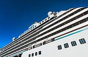Crystal Serenity cruise ship detail.