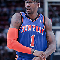 06 October 2010: New York Knicks forward Amare Stoudemire #1 is seen during the Minnesota Timberwolves 106-100 victory over the New York Knicks, during 2010 NBA Europe Live, at the POPB Arena in Paris, France.