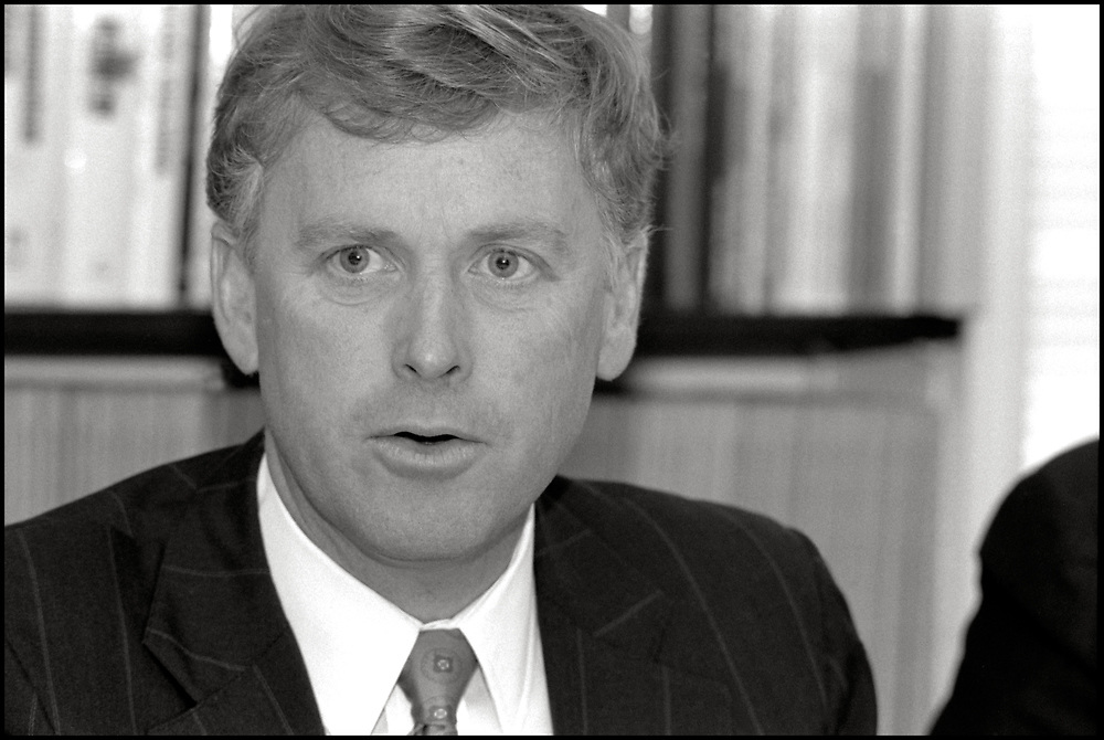Vice President Dan Quayle attends a meeting in New York City  on April 27th, 1992.