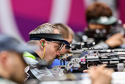 TOKYO, JAPAN - SEPTEMBER 01: Francek Gorazd Tirsek - Nani of Slovenia competes in the R5 - Mixed 10m Air Rifle Prone SH3 Final on day 8 of the Tokyo 2020 Paralympic Games at Asaka Shooting Range on September 01, 2021 in Asaka, Japan.  Photo by Vid Ponikvar / Sportida