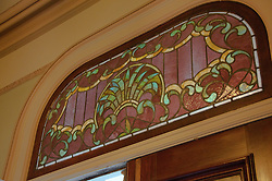 California: Napa City, B&B stained glass detail during B&B Holiday Tour at McClelland Priest house.  Photo copyright Lee Foster.  Photo # canapa106899
