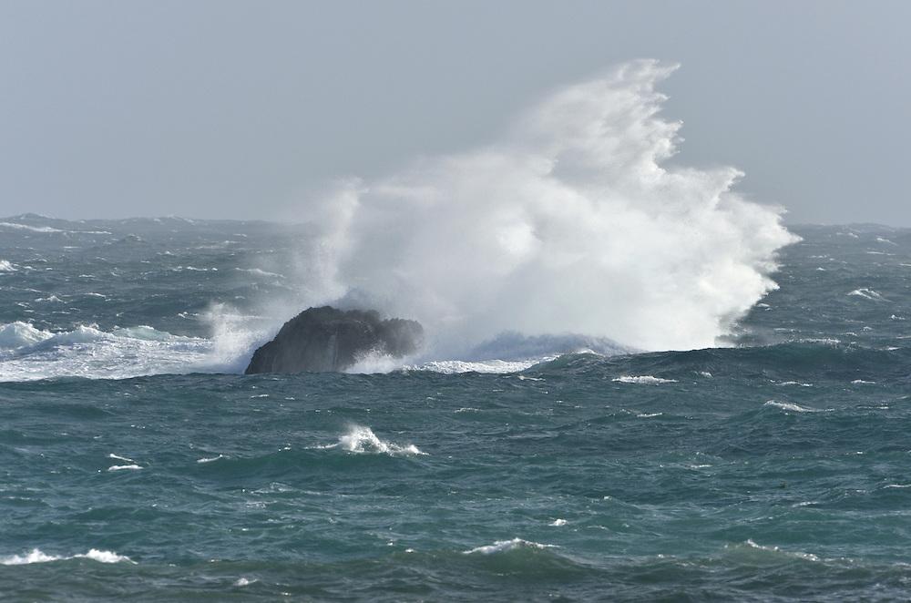 Rough sea on the British coast