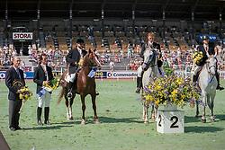 Team Belgium, Silver medal, Dominique Critzen, Armand de Merode, Jean-Luc Marchal, Marcel Rossiu<br /> World Equestrian Games Stockholm 1990<br /> © Hippo Foto - Dirk Caremans<br /> 21/12/2017