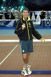 File photo dated 17/12/2005 of Sir Cliff Richard, who has won his legal action against the BBC over coverage of a police raid at his apartment in Berkshire in August 2014, at the Cliff Richard Tennis Classic, a charity tennis tournament at the National Indoor Arena in Birmingham.