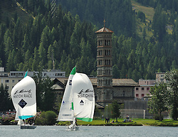 Mirsky and Morvan out in practice for the St. Moritz Match Race. Photo: Chris Davies/WMRT