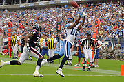 Sept 20, 2009, Nashville, Tennessee, USA;  Nate Washington(85) of the Tennessee Titans beats Fred Bennett(32) of the Houston Texans to the end zone for a touchdown catch.  The Texans held on for the 34-31 win.