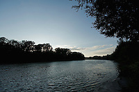 Landscape if the river Tisza, Hungary