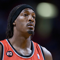 08 March 2011: Portland Trail Blazers small forward Gerald Wallace (3) is seen during the Portland Trail Blazers 105-96 victory over the Miami Heat at the AmericanAirlines Arena, Miami, Florida, USA.