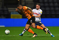 Preston North End's Alan Browne battles with Hull City's Josh Magennis<br /> <br /> Photographer Dave Howarth/CameraSport<br /> <br /> The Carabao Cup Second Round - Preston North End v Hull City - Tuesday 27th August 2019  - Deepdale Stadium - Preston<br />  <br /> World Copyright © 2019 CameraSport. All rights reserved. 43 Linden Ave. Countesthorpe. Leicester. England. LE8 5PG - Tel: +44 (0) 116 277 4147 - admin@camerasport.com - www.camerasport.com