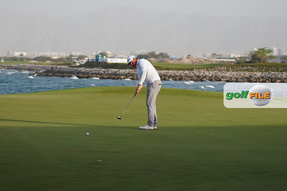 Sami Valimaki (FIN) on the final play-off hole during Round 4 of the Oman Open 2020 at the Al Mouj Golf Club, Muscat, Oman . 01/03/2020<br /> Picture: Golffile   Thos Caffrey<br /> <br /> <br /> All photo usage must carry mandatory copyright credit (© Golffile   Thos Caffrey)