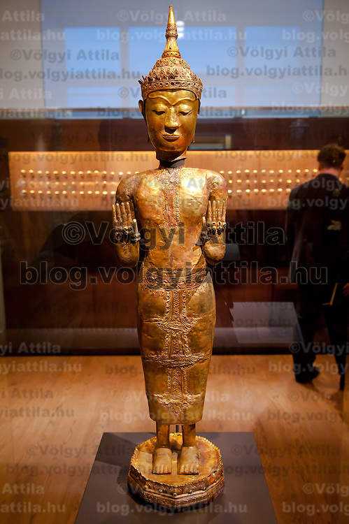 Golden statue displayed in the Southeast Gold Museum that presents hundreds of golden artifacts from the private collection of founder Istvan Zelnik in Budapest, Hungary on September 15, 2011. ATTILA VOLGYI