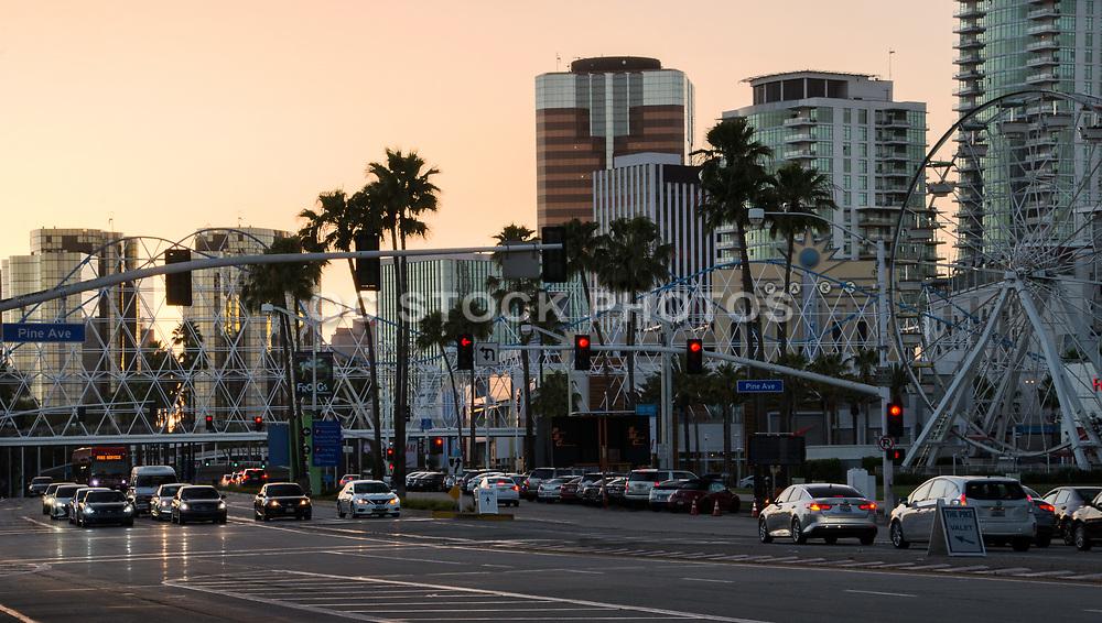 Long Beach Skyline at Dusk