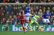 Middlesbrough midfielder Adam Clayton  with a shot on goal during the Capital One Cup match between Middlesbrough and Everton at the Riverside Stadium, Middlesbrough, England on 1 December 2015. Photo by Simon Davies.