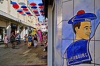 France, Manche (50), Cherbourg-Octeville, rue des portes, Café Pompon // France, Normandy, Manche department, Cherbourg-Octeville, rue des portes street