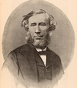 John Tyndall (1820-1893) Irish-born British physicist. Professor at the Royal Institution, London, 1854. Worked on heat, radiation and acoustics. Died of accidental Chloral poisoning. Engraving from 'The Science Record' (New York, 1873).