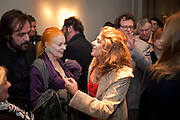 ANDREAS KRONTHALER; VIVIENNE WESTWOOD; TRACEY EMIN, Do Not Abandon Me - private view od wok by Tracey Emin alongside that of Louise Bourgeois. <br /> Hauser & Wirth London, 15 Old Bond Street, London, 17 February 2011. -DO NOT ARCHIVE-© Copyright Photograph by Dafydd Jones. 248 Clapham Rd. London SW9 0PZ. Tel 0207 820 0771. www.dafjones.com.