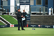 Michael Douglas pictured at the Old Course, St. Andrews  where he played a pro-celebrity golf event before the Alfred Dunhill Cup.