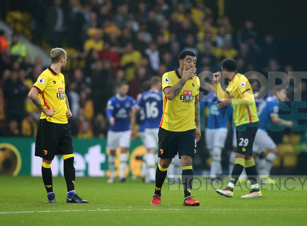 Watford's Troy Deeney looks on dejected after going 1-0 down during the Premier League match at Vicarage Road Stadium, London. Picture date December 10th, 2016 Pic David Klein/Sportimage