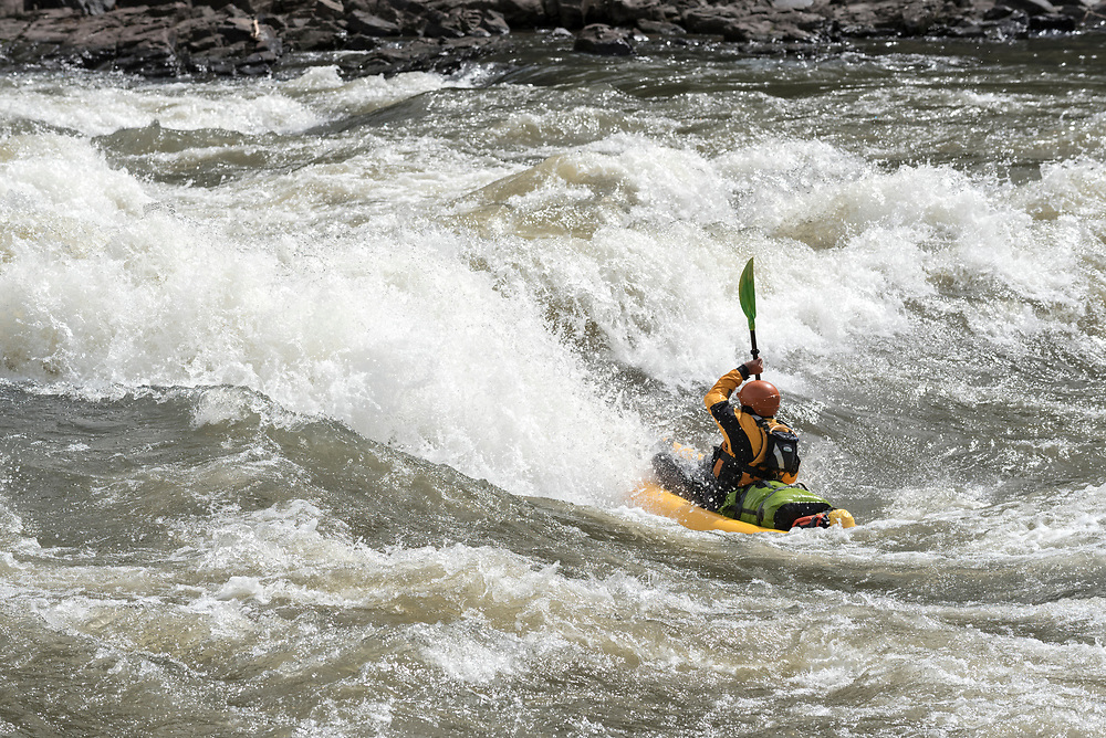 Kayaking The Narrows on the Grande Ronde River in Southeast Washington.