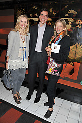 Left to right, ALLEGRA HICKS and LEOPOLDO & JESSICA ZAMBELETTI at a party to celebrate the publication of Ghosts by Daylight by Janine Di Giovanni held at Blakes Hotel, London on 12th July 2011.