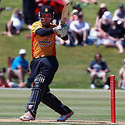 Brendon Taylor hits a boundary on how way to a century during the Otago Voltz V Wellington Firebirds HRV Cup match at the Queenstown Events Centre, Queenstown, New Zealand. 31st December 2011