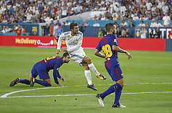 Real Madrid midfielder Mateo Kovacic scores a goal during the first half against Barcelona in International Champions Cup action on Saturday, July 29, 2017, at Hard Rock Stadium in Miami Gardens, FL, USA. Photo by David Santiago/El Nuevo Herald/TNS/ABACAPRESS.COM