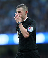 Referee Michael Oliver in action<br /> <br /> - Barclays Premier League - Manchester City vs Manchester Utd - Etihad Stadium - Manchester - England - 2nd November 2014  - Picture David Klein/Sportimage