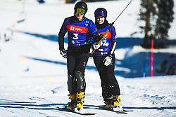 Andrey Sobolev (RUS) during parallel giant slalom FIS Snowboard Alpine world championships 2021 on 1st of March 2021 on Rogla, Slovenia, Slovenia. Photo by Grega Valancic / Sportida