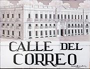 Calle del Correo, (post street) Ceramic street sign in Madrid, Spain