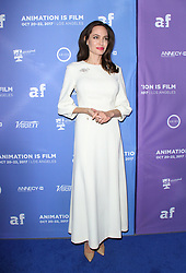 HOLLYWOOD, CA - OCTOBER 20: Nora Twomey, Angelina Jolie, at Premiere Of Gkids' 'The Breadwinner' At TCL Chinese 6 Theatres in Hollywood, California on October 20, 2017. 20 Oct 2017 Pictured: Angelina Jolie. Photo credit: FS/MPI/Capital Pictures / MEGA TheMegaAgency.com +1 888 505 6342