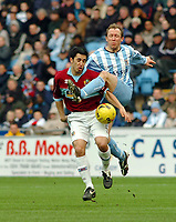 Photo: Kevin Poolman.<br />Coventry City v Burnley. Coca Cola Championship. 25/02/2006. Coventry's Andy Morrell (R) finds no way through.