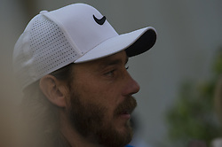 October 13, 2017 - Monza, Italy - Tommy Fleetwood of England (L)  on Day One of the Italian Open at Golf Club Milano  (Credit Image: © Gaetano Piazzolla/Pacific Press via ZUMA Wire)