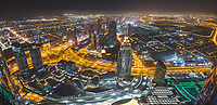 View from Level 124 on top of Burj Khalifa