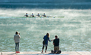 Aiguebelette, FRANCE,   The AP's looking for the shot,    2015 FISA World Rowing Championships, Venue, Lake Aiguebelette - Savoie. <br /> <br /> Saturday  05/09/2015  [Mandatory Credit. Peter SPURRIER/Intersport Images]. © Peter SPURRIER, Atmospheric, Rowing